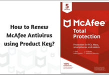How to Renew McAfee Antivirus using Product Key