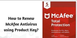 How to Renew McAfee Antivirus using Product Key