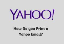 How Do you Print a Yahoo Email?