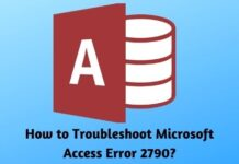 How to Troubleshoot Microsoft Access Error 2790?